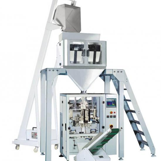 Weighing scale packaging machine